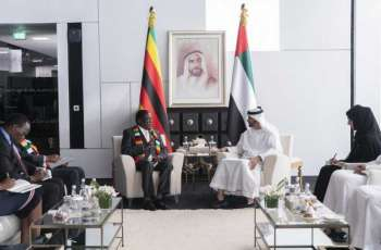 Mohamed bin Zayed, President of Zimbabwe discuss advancing relations