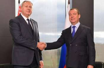 Russian Prime Minister Medvedev Says Talks With Belarusian Counterpart Rumas Productive
