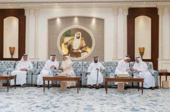 Mohamed bin Zayed receives condolences on death of Sultan bin Zayed