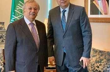 السفير المعلمي يستقبل مندوب الجزائر لدى الأمم المتحدة