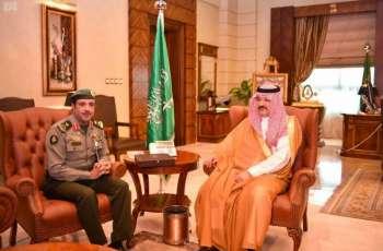 سمو الأمير مشعل بن ماجد يستقبل مدير جوازات منطقة مكة المكرمة