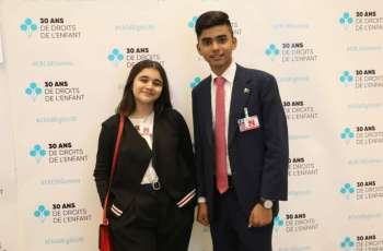 Two students represent Pakistan at UNCRC