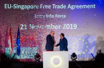 Free Trade Deal Between EU, Singapore Takes Effect on Thursday