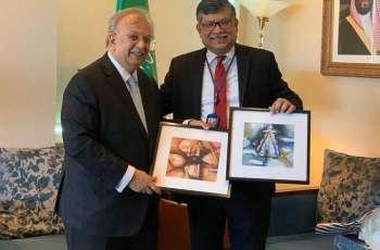 السفير المعلمي يلتقي مندوب بنجلاديش لدى الأمم المتحدة