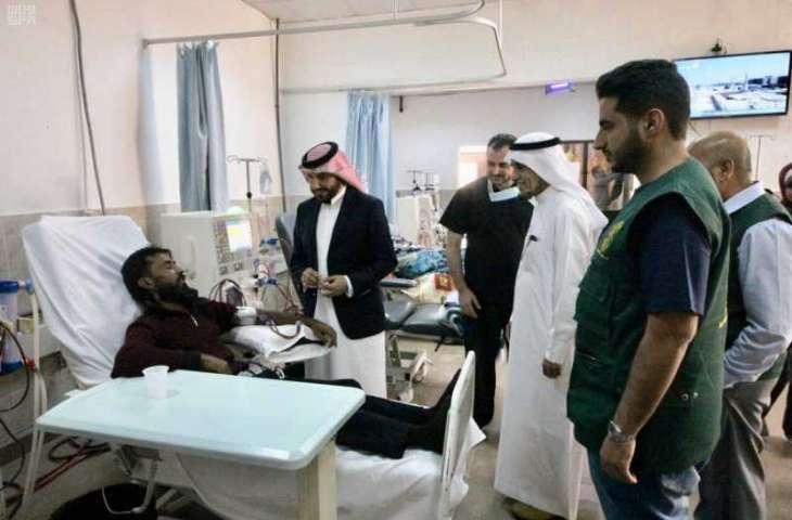 مركز الملك سلمان للإغاثة يطلع على آليات علاج  اللاجئين السوريين المصابين بالفشل الكلوي في الأردن