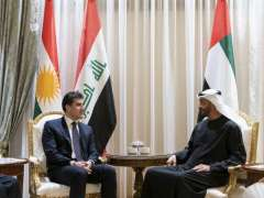 Mohamed bin Zayed, President of Kurdistan Region- Iraq deliberating regional developments