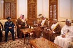 سمو الأمير خالد بن سلمان يلتقي وزيـر المكتب السلطاني بسلطنة عمان