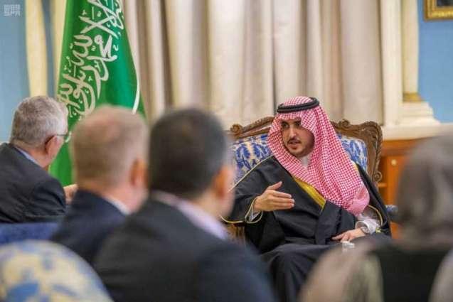 سمو أمير الجوف يستقبل سفير الدنمارك بالسعودية
