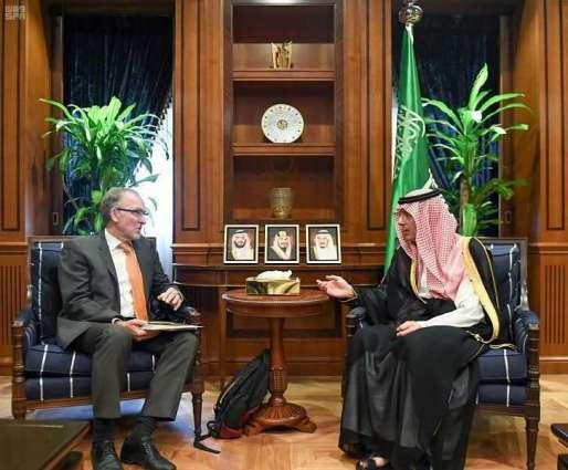 وزير الدولة للشؤون الخارجية يستقبل السفير الالماني لدى المملكة