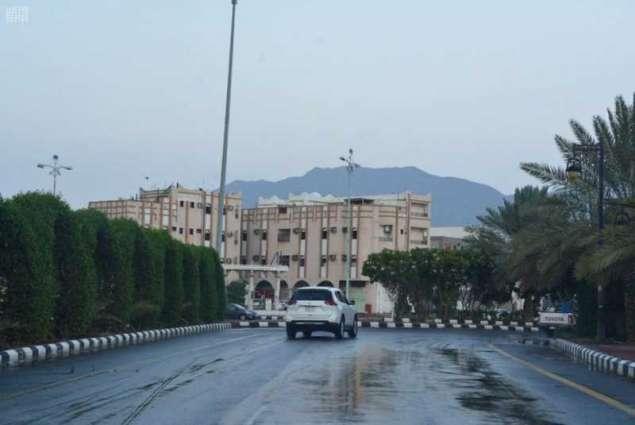أمطار على محافظة محايل