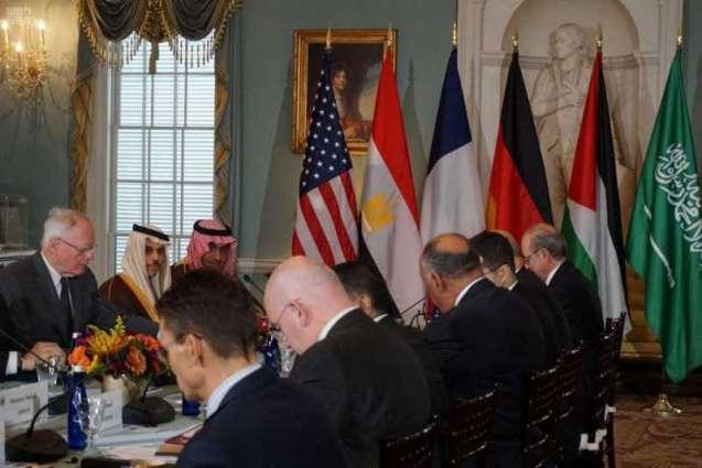 سمو وزير الخارجية يترأس وفد المملكة في الاجتماع الوزاري للمجموعة المصغرة حول سوريا في واشنطن