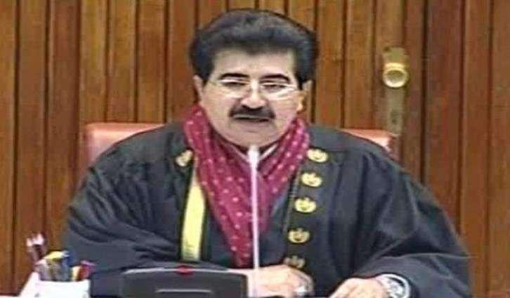Sanjrani takes notice of absence of Secretary Interior from Senate