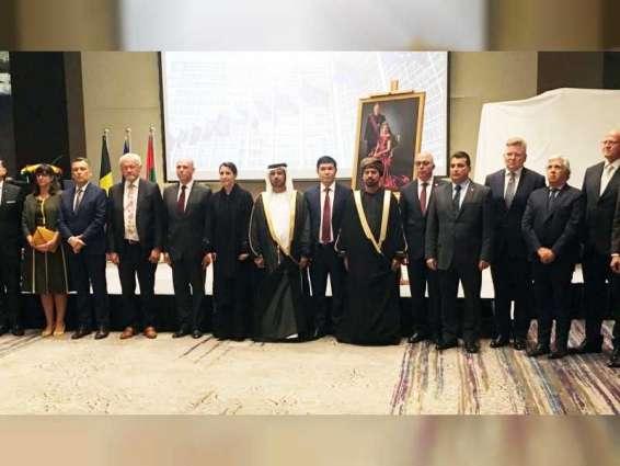 Mariam Almheiri attends Belgian Embassy's reception