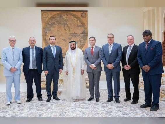 Ruler of Sharjah receives delegation from LandScape magazine