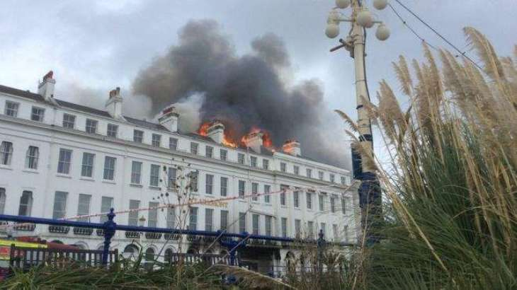 UK's Eastbourne Seaside Resort Evacuated as Fire Breaks Out - Sussex Fire Services