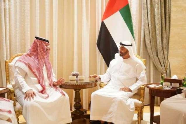 سمو نائب وزير الدفاع يعزي ولي عهد أبو ظبي في وفاة الشيخ سلطان بن زايد آل نهيان