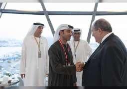 Hazza bin Zayed meets President of Armenia