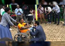 UAE Embassy in Rwanda distributes wheelchairs to people of determination