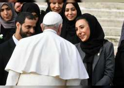 UAE is role model of tolerance, coexistence, peace: Pope Francis