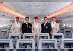 أطقم طيران الإمارات للخدمات الجوية والدرجة السياحية الأفضل في العالم