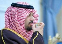 سمو أمير منطقة الحدود الشمالية يستقبل المواطنين في جلسته المسائية