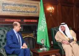 سمو أمير منطقة تبوك يستقبل سفير اليمن لدى المملكة