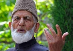 Resistance till last Indian soldier quits Kashmir: Chairman of All Parties Hurriyat Conference, Syed Ali Gilani