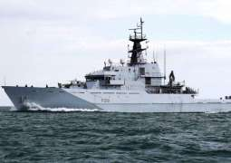 UK Warship Shadows Russian Training Vessel Through English Channel - Royal Navy