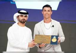 Mansour bin Mohammed honours speakers at 14th Dubai International Sports Conference