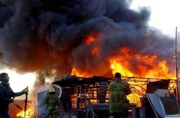 15 Huts gutted, fire erupts in Karachi