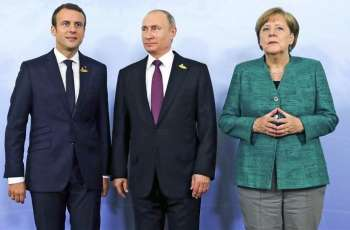 Normandy Four Leaders' Meeting Starts in Elysee Palace in Paris