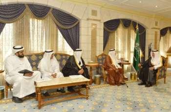 سمو الأمير خالد الفيصل يستقبل رئيس مجلس إدارة جمعية دواء الخيرية