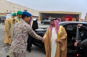 ملك مملكة البحرين يغادر الرياض