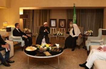 وزير الشؤون الإسلامية يلتقي وزير الأوقاف المصري بالأردن