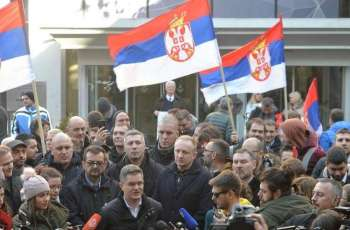 Serbian Opposition Blocks Entrances to National Television Building