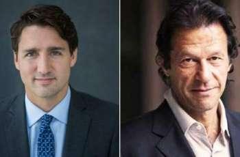 رئیس وزراء باکستان عمران خان یجري اتصالا ھاتفیا مع نظیرہ الکندي جاستن ترودو