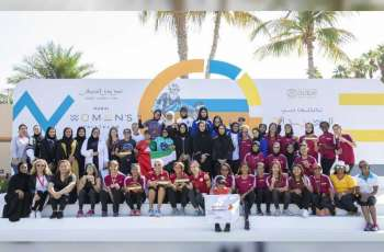 Winners of Dubai Women's Triathlon honoured