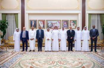 Hamdan bin Rashid receives AAAID Chairman and Board Members