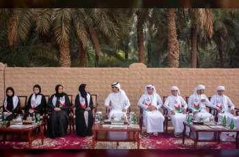 Hazza bin Tahnoun receives 'Journey of the Union' initiative participants
