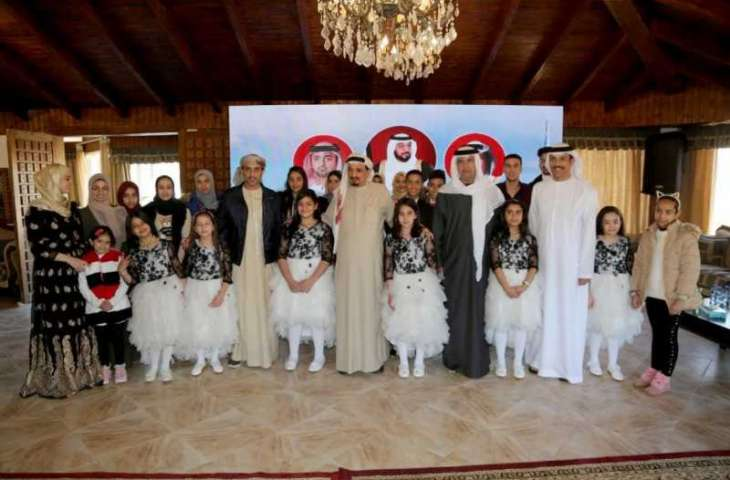 Humaid Al Nuaimi directs provision of winter aid for underprivileged, attends orphans' ceremony in Jordan