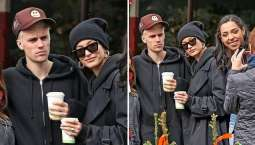 Justin Bieber bears angry expression on outing with Hailey Baldwin