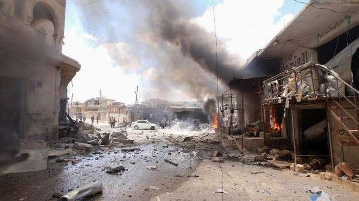 Turkish Defense Ministry Accuses Damascus of Killing 14 Civilians in Idlib Airstrikes