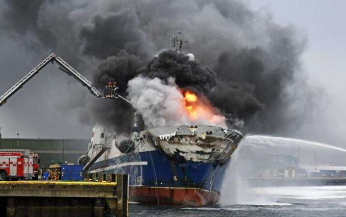 Russian Trawler on Fire in Norway's North at Batsfjord Port - Police