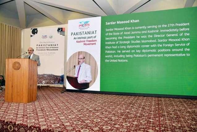 Future of Pakistan, Kashmir interlinked: Masood Khan