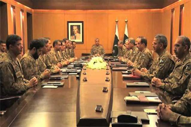 COAS chairs hours long Corps Commanders Conference