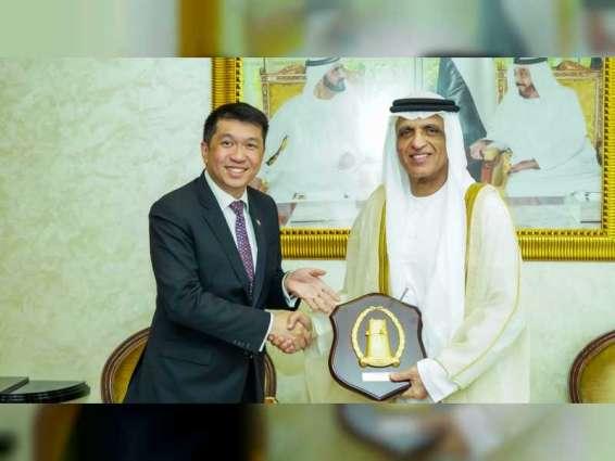 RAK Ruler receives Ambassador of Singapore