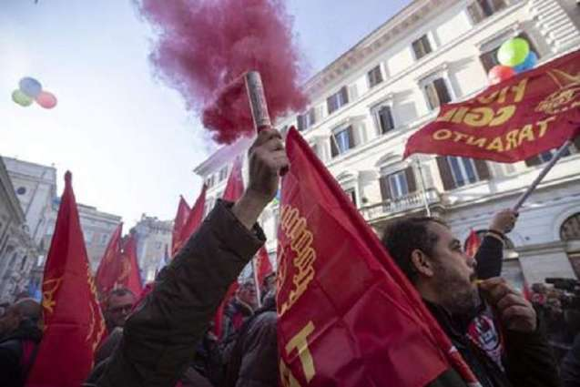 Steel Workers Stage Protest in Rome as ArcelorMittal Seeks to Pull Out of Job-Saving Deal