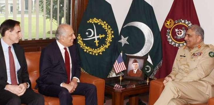 US Representative for Afghanistan Reconciliation calls on COAS