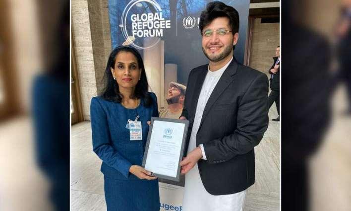 UNHCR appoints Javed Afridi Refugee Youth Ambassador
