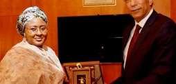 سفير خادم الحرمين الشريفين لدى نيجيريا يلتقي رئيسة مؤسسة عائشة بخاري